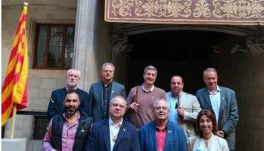Alcaldes de La Segarra al Palau de la Generalitat