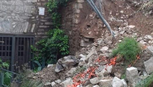 Atorguen un ajut extraordinari per l'actuació urgent del mur de les voltes de Vergós Guerrejat.
