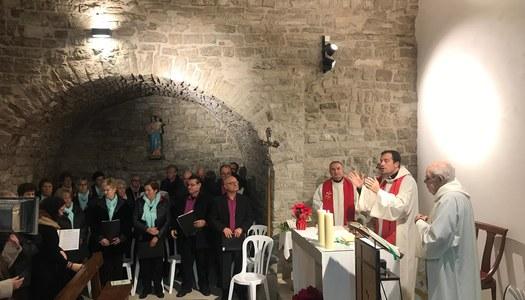 Concert de Nadales a l'interior de l'església de Sant Jaume