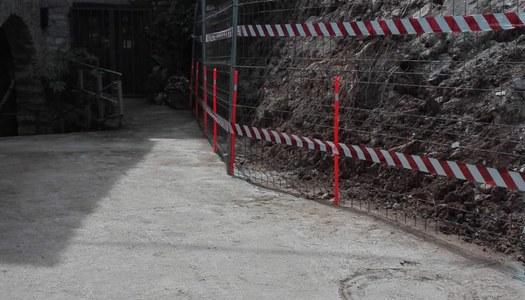 L'Ajuntament d'Estaràs redacta una memòria per sol·licitar ajudes extraordinàries per reparar el mur enderrocat a Vergós